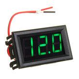 5pcs Green 0.56 Inch Mini Digital Voltmeter DC 4.5V To 30V Digital Voltmeter Voltage Panel Meter For 6V 12V 24V Electromobile Motorcycle Car