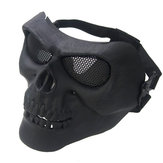 Outdooors CS Masker Wajah Masque Skull Style Airsoft War Game Guard Protection
