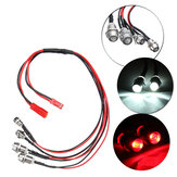 WPL LED RC Car Light Truck Kit Plastic Durable Red/White ESC DIY Upgrade Parts Set Front & Rear Headlights