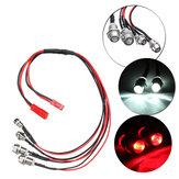 Wpl LED rc سيارة ضوء شاحنة كيت البلاستيك دائم أحمر / أبيض esc diy ترقية أجزاء مجموعة الأمامية والخلفية الأمامية