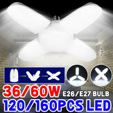 AC85-265V E27/E26 36W 60W LED Bulb Deformable Garage Lamp Foldable Ceiling Light for Home Indoor Use