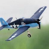 Dynam F6F Hellcat V2 1270mm Wingspan EPO Warbird RC Avião PNP com flaps e sistema de energia atualizado