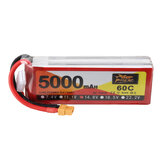 ZOP Power 14.8V 5000mAh 60C 4S Lipo Batería XT60 Enchufe para RC Racing Drone