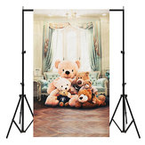3x5ft Bear Vinyl Photography Backdrop Studio de fond Baby Child Photo Props