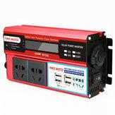4000W تيار منتظم 12V / 24V إلى AC 220V القوة العاكس رقمي تعديل شرط موجة 4 USB مدخل 2 مآخذ