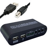 USB Synchronizer 4 Ports KM Switcher 4 Open Mouse And Keyboard 1 Control Four Port KM Switch Synchronous Controller
