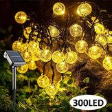 98.5FT 30M Outdoor 300LED Luz Solar Fairy String 8 Modos Pátio Paisagem gramado Lâmpada à prova d'água jardim jardim