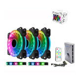 120mm LED Computer Case Cooling Fan Adjustable RGB and Fan Speed Remote Control Support 5v 3Pin From ALSEYE D-Ringer Series