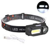XANES 700LM XPE + COB LED HeadLamp USB Antarmuka Waterproof Outdoor Camping Hiking Bersepeda Fishing Light