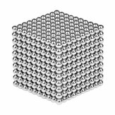1000ШТ Per Lot 5 мм Магнитный толстый кубик маг Серебряный интеллектуальный подарок игрушки для снятия стресса