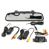 Car Rear View Reversing Video Camera Mirror DVR Dashcam 4.3 Inch Monitor 1080P