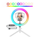 BW-SL5 RGB Ring Light Selfie Lamp Ring Light Ringlamp for Youtube Tiktok Makeup Photography Light for Live Broadcast