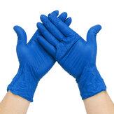 100 Pcs S / M / L Luvas de Nitrilo Descartáveis Proteção para as Mãos Limpeza de Saúde Pessoal Manuseio Luvas de Trabalho Luvas de Proteção Azul