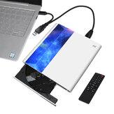 As unidades ópticas de DVD externas Deepfox suportam a conexão de TV com USB 3.0 e a interface Type C Controle Remoto