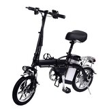[EU Direct] Lamtwheel 12Ah 36V 350W 14 Inches Folding Moped Bicycle 35km/h Top Speed 30-35KM Mileage Range Electric Bike