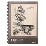 B5 Sketchbook 40 stron Double Coil Design Loose-leaf Graffiti Drawing Book Stationery Painting Art Supplies