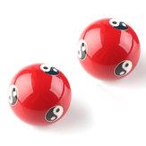 Chinese Cloisonne Baoding Balls Gezondheid Oefening Ontspanning Therapie Stress Ying Yang Rode Bal van de Geschiktheid