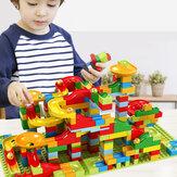 165 ADET Mermer Çalıştırmak Yapı Taşları Labirent Topu Parça Blokları Set Inşaat Oyuncakları Bulmaca Labirent Yapı Seti 3+ Yaş Erkek Kızlar için
