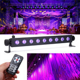 27W 9 LED UV 395-400NM Controle Remoto Luz do estágio Wall Wash Lamp para Festa Halloween Club DJ