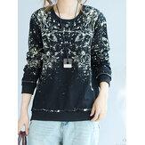 Print Cotton Women Sweatshirt