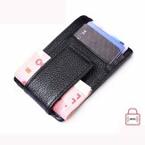 RFID Men Women Wallet Credit Card Holder Magnet Money Safe Card ID Case