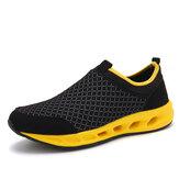 Hombres Casual al aire libre Zapatos deportivos de malla transpirable Soft Zapatos deportivos para caminar únicos