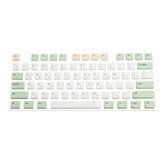 134 مفتاح ريترو ميلك أخضر Keycap Set XDA الملف الشخصي PBT Sublimation Keycaps for 61/64/87/108 Keys Keys Mechanical Keys