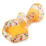 3 in 1 Bebek Mini Katlanabilir Oyun Çadırı Çocuk Bebekler Tünel Topu Çukurları Havuz Set Kapalı Outdoor Pop Up Playhouse