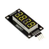 0,36polegadas,4dígitos,LED,tubo de exibição, 7 segmentos, TM1637 30x14mm, módulo de ponto decimal amarelo