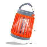 3-in-1 Mosquito Zappers USB/Solar 500lm 4 Modes Adjustable Camping Light Electric Mosquito Killer Lamp Outdoor Camping Travel