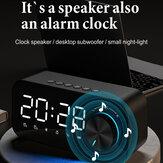 BakeeyZXL-B126目覚まし時計Bluetooth5.0スピーカーデジタルディスプレイLEDワイヤレスサブウーファーミュージックプレーヤーミラーデュアル目覚まし時計