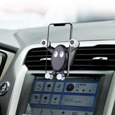 Cartoon Buckle Graverity Automatic Air Vent Car Phone Holder ABS Stand Mounts for Iphone X