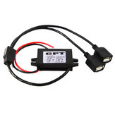 C848 DC 12V to 5V 3A 15W Waterproof DC Converter Mini USB Car Power Adapter