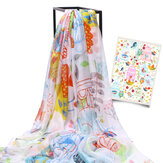 LYZA 200CM Femmes Soft Long Scarf Shawl Multifunction Digital Printing Sunscreen Serviette de plage