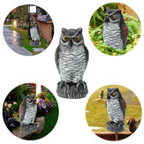 Fake Standing Owl Bird Hunting Shooting Decoy Deterrent Repeller Garden Scarer