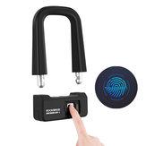 ROCKBROSBisikletKilitAnti-hırsızlıkBisikletMotosiklet Kilit USBbağlantı Parmak Izi Kilit Katlama U Kilit Bisiklet Aksesuarları
