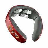 Listrik Nirkabel Smart Pijat Leher Puluhan Pulsa Meringankan Nyeri Leher Isi Ulang 4 Kepala Vibrator Pemanas Pijat Serviks Perawatan Kesehatan