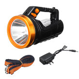 4.2V 520mA Super Bright Searchlight LED Spotlight USB Rechargeable 2 Modes 500m Flashlight Fishing Hunting