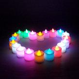 1 PC LED Licht Kerze Flameless Bunte Tee Kerzenlampe Elektronische Kerze Partei Hochzeitsdeko