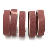 5Pcs 80/100/150/240/320 grano de lijado correas 25 mm de anchura de óxido de aluminio de lijado Belt