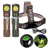 Sofirn SP40 XPL 1200LM USB Rechargeable LED Headlamp L-shape 18350/18650 Flashlight with Magnet Tail Ultra Bright Outdoor Camping Work Light