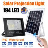 Sensore di movimento a infrarossi 194LED solare Applique da parete Impermeabile Telecomando Giardino lampada per uso domestico esterno