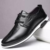 Мужская удобная кожа из микрофибры Soft Подошва нескользящая повседневная деловая обувь