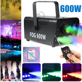 600W 220V RVB 3in1 Fog Smoke Machine Party Show LED Light + Télécommande