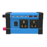 1200W Peak Car Power Inverter DC 12V To AC 110/220V Four USB Modified Sine Wave Converter With Colorful LCD Screen
