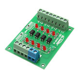3pcs 12V To 3.3V 4 Channel Optocoupler Isolation Board Isolated Module PLC Signal Level Voltage Converter Board 4Bit