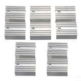 100pcs Aluminum Heat Sink Heat Sink For TO-220 L780xCV Three Terminal Positive Voltage Regulator