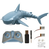 T11B with Two Battery 2.4G 4CH Electric RC Boat Simulation Shark Animal RTR Model Kids Toys