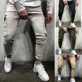 Hombre Sport Running Pantalones Pantalón deportivo de secado rápido con cremallera Delgado Soft Pantalones deportivos