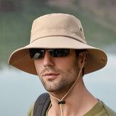 サンシェードキャップを登るストリング屋外釣り帽子付きメンズ折りたたみ式通気性バケットハット